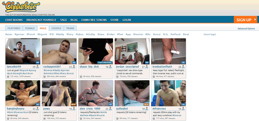 Chaturbate Home Page